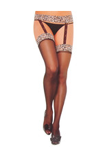 LEOPARD GARTER THIGH HIGH