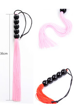 SILICONE WHIP WITH BEAD HANDLE - BLUE