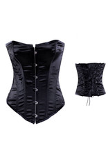CLASSIC OVERBUST CORSET BLACK - SMALL