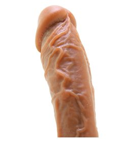 "NS - COLOURS - DUAL DENSITY - 8"" DILDO - BROWN"