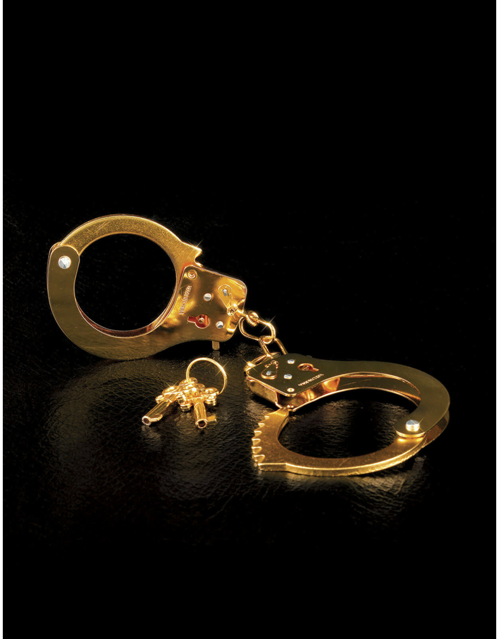 FETISH FANTASY - METAL CUFFS - GOLD