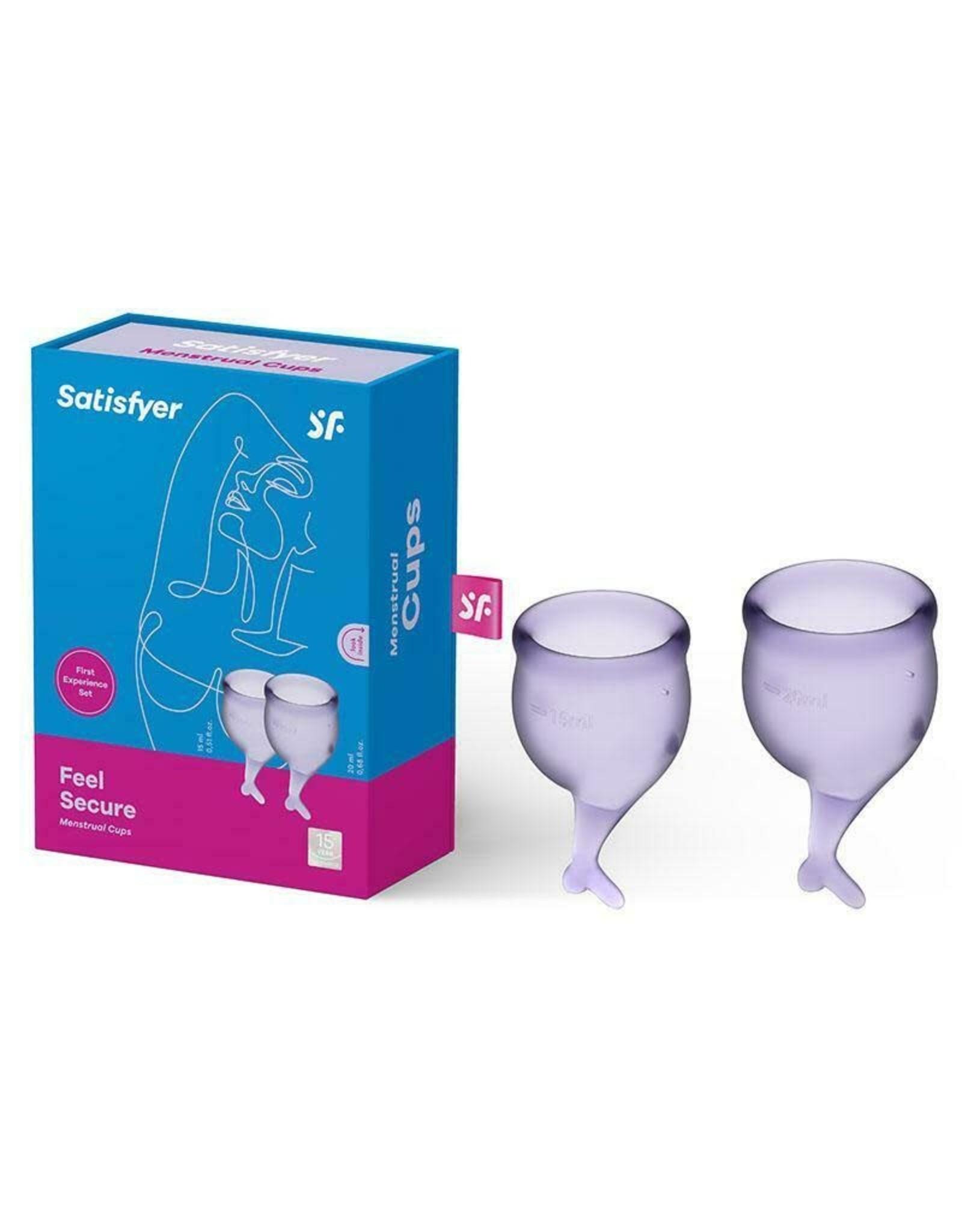 SATISFYER - FEEL SECURE MENSTRUAL CUP (LILAC)