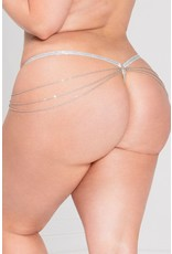 LADY OF CHAIN G-STRING - WHITE - QUEEN SIZE