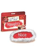NAUGHTY/NICE EYE MASK - RED/WHITE