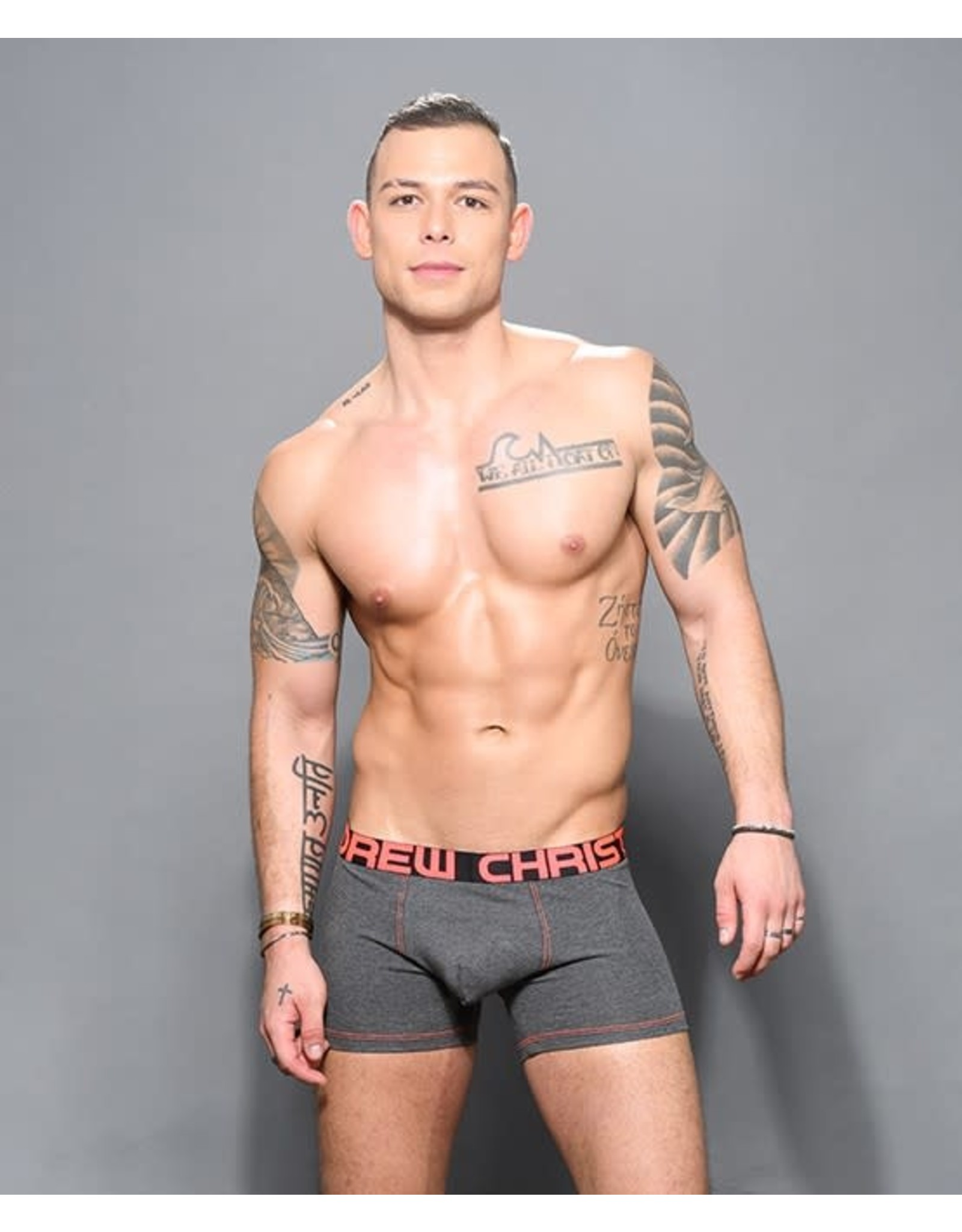 ANDREW CHRISTIAN ANDREW CHRISTIAN - ALMOST NAKED BAMBOO BOXER - CHARCOAL - LARGE