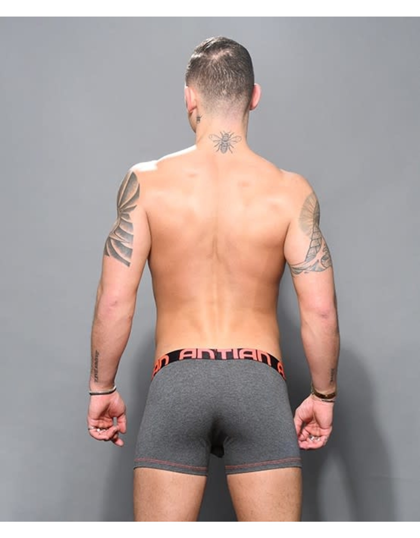 ANDREW CHRISTIAN - ALMOST NAKED BAMBOO BOXER - MEDIUM - CHARCOAL