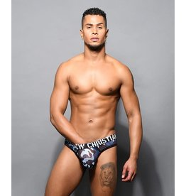 ANDREW CHRISTIAN ANDREW CHRISTIAN - TROOP SHEER THONG - BLUE CAMO - SMALL