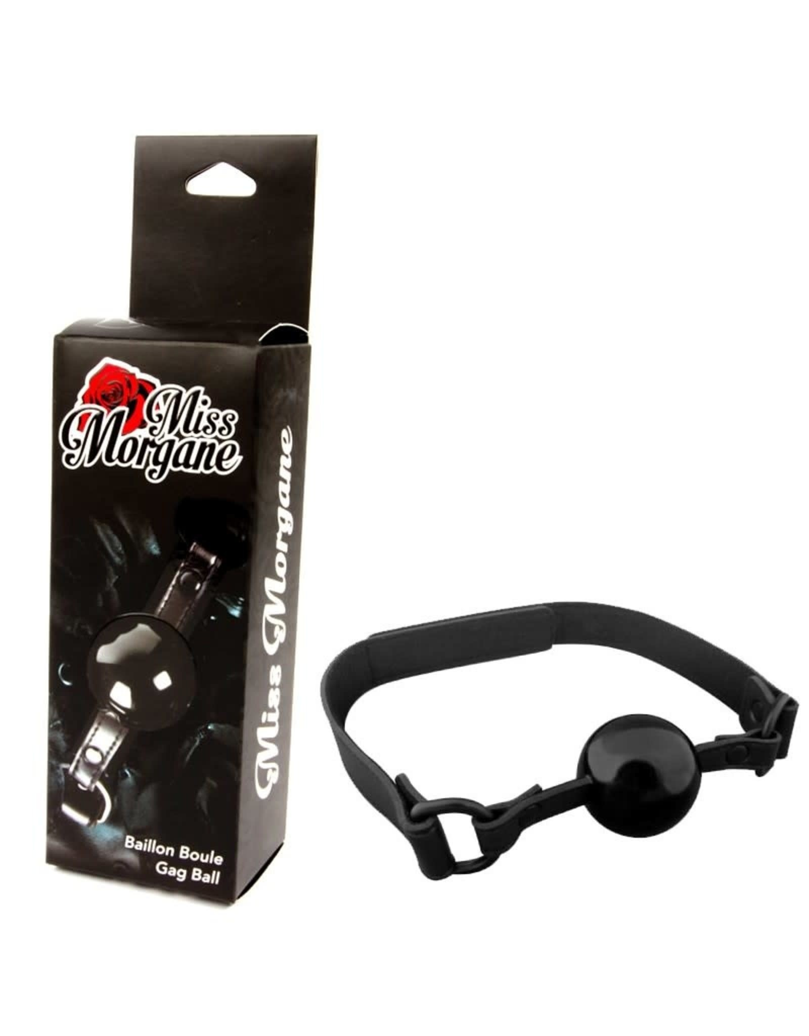 MISS MORGANE - SILICONE BALL GAG - BLACK