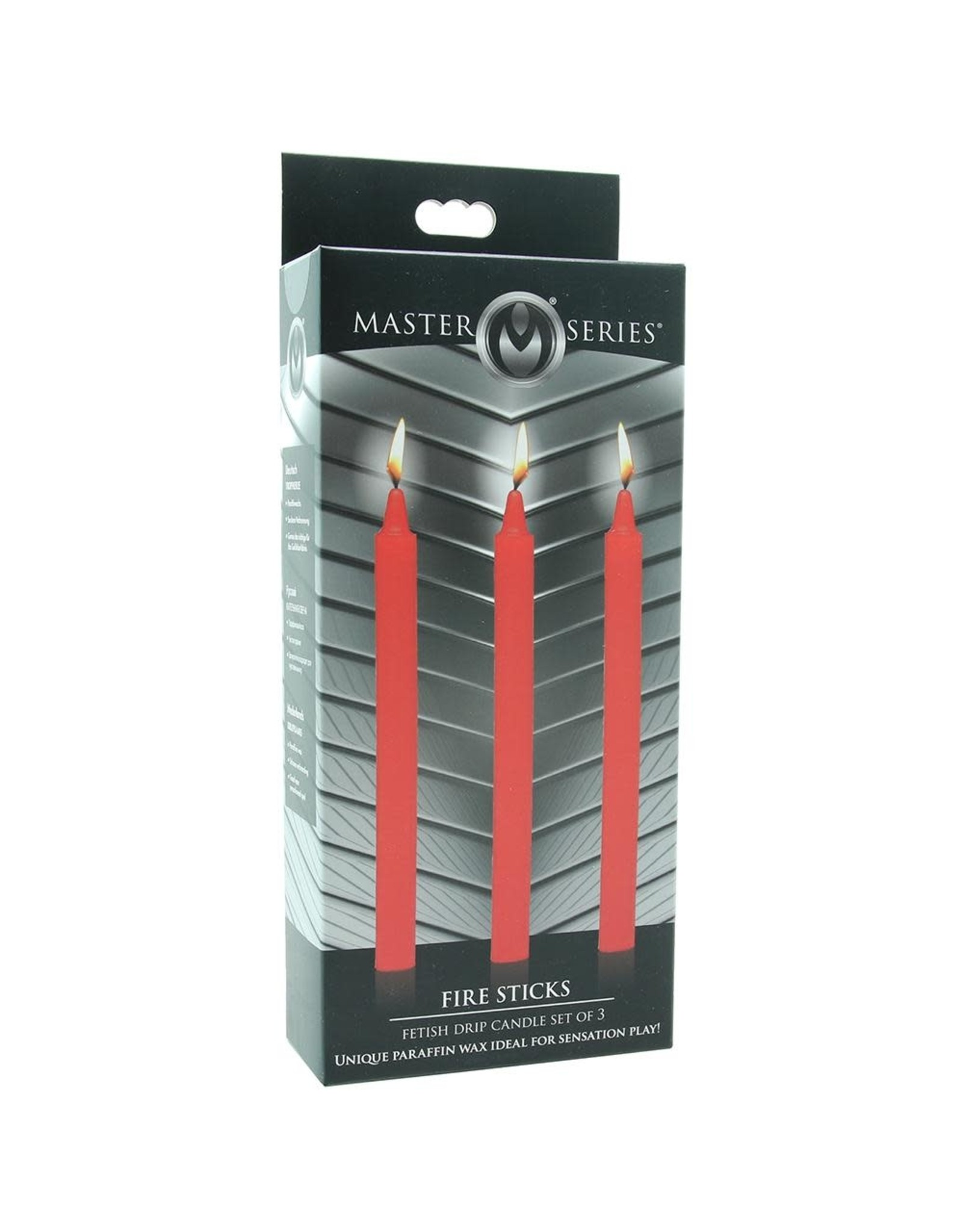 MASTER SERIES MASTER SERIES - FIRE STICKS DRIP CANDLE SET OF 3