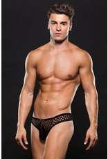 BACI ENVY -  MODERN FISHNET THONG - BLACK - SMALL/MEDIUM