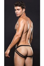 BACI ENVY - MODERN FISHNET OPEN BACK BRIEF - BLACK - MEDIUM/LARGE