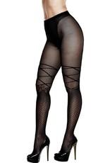 BACI BACI - DOUBLE DUTY PANTYHOSE - BLACK - ONE SIZE