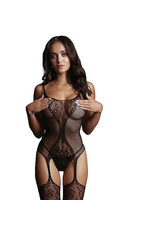 LE DESIR LE DESIR - FISHNET AND LACE BODYSTOCKING - BLACK - ONE SIZE