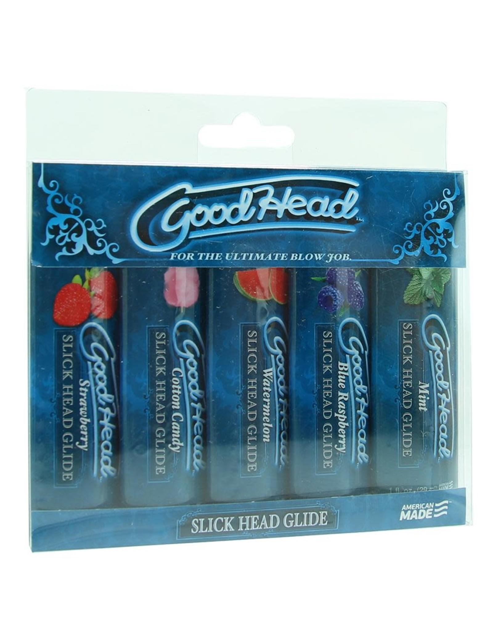 GOODHEAD SLICK HEAD GLIDE 5 PACK 1OZ X5