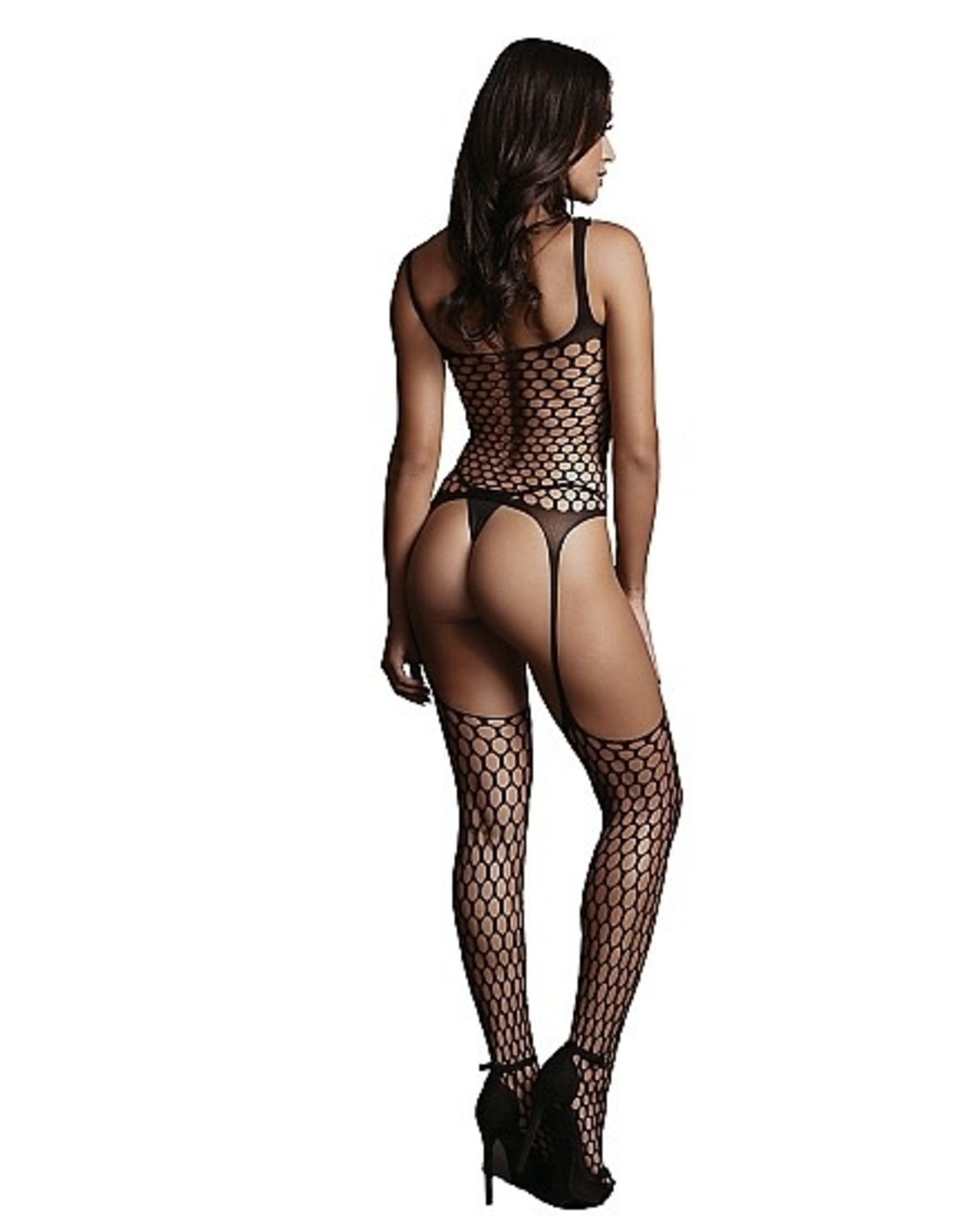 LE DESIR LE DESIR - FENCE SUSPENDER BODYSTOCKING - BLACK - ONE SIZE