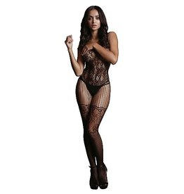 LE DESIR LE DESIR - LACE AND FISHNET BODYSTOCKING - BLACK - ONE SIZE