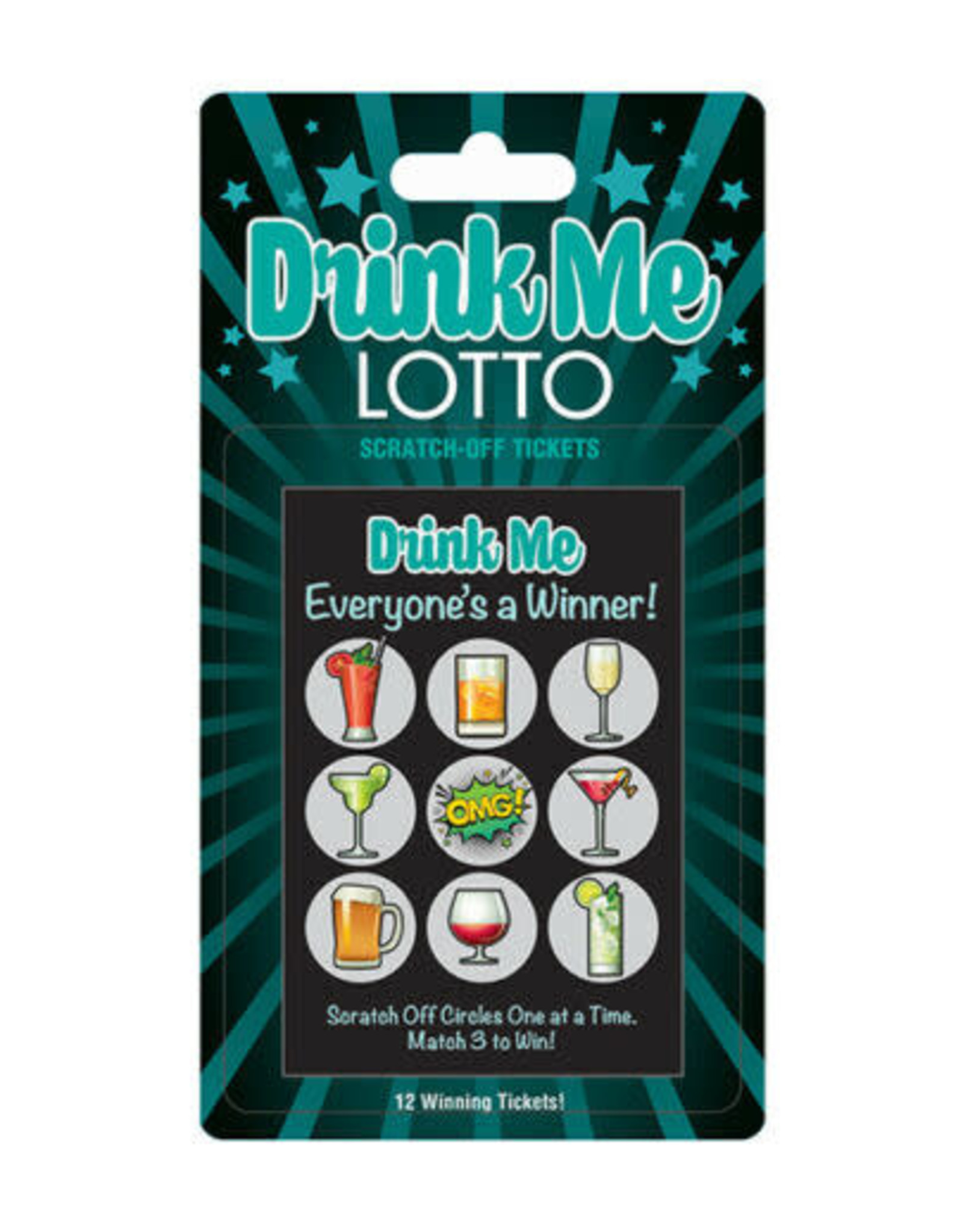 DRINK ME LOTTO SCRATCH CARD
