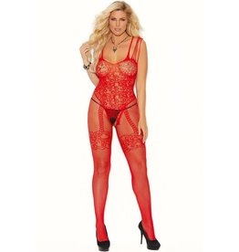 ELEGANT MOMENTS ELEGANT MOMENTS - RIGHT SAID RED BODYSTOCKING - QUEEN SIZE