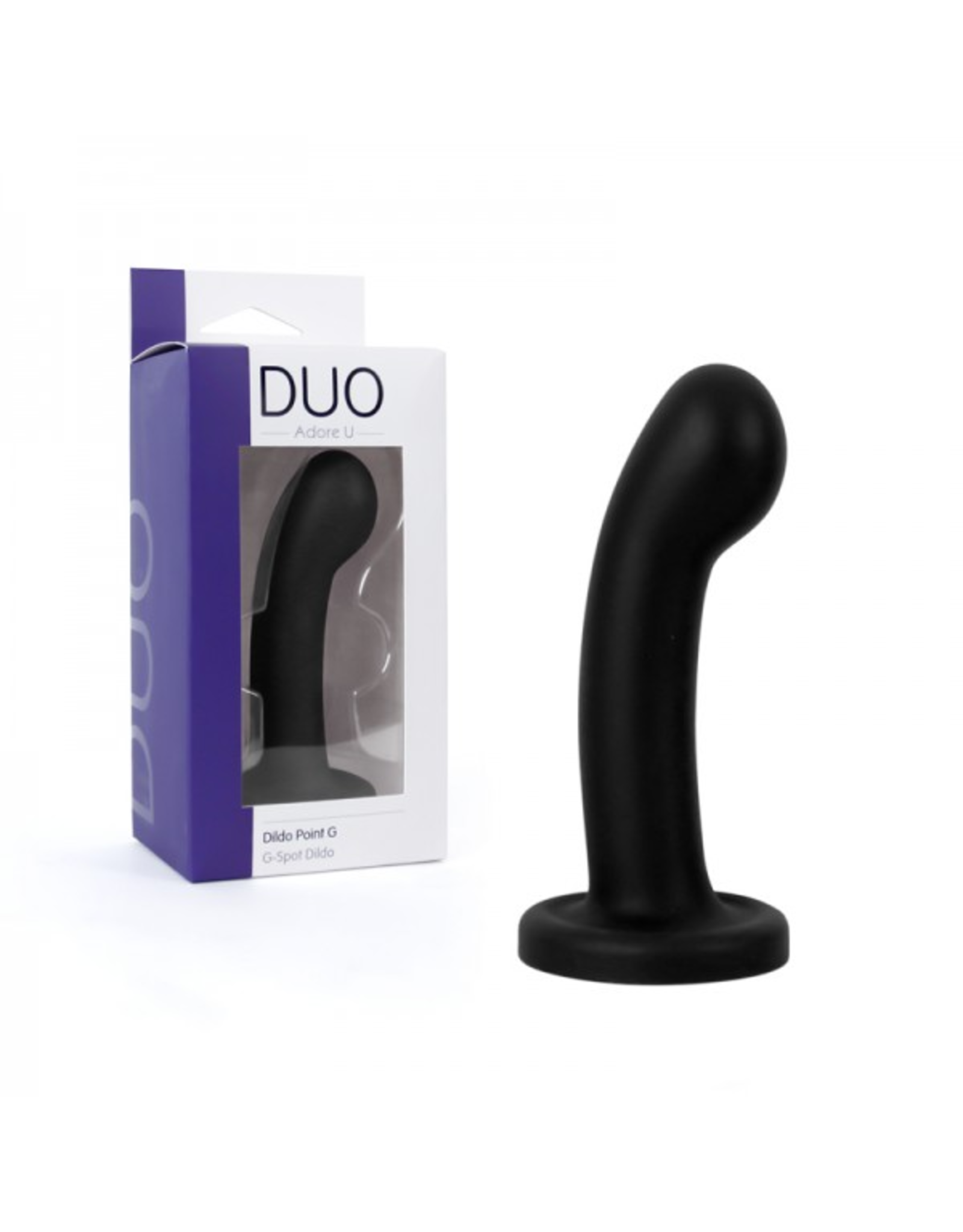 ADORE U - DUO - CURVED & ROUNDED DILDO - BLACK