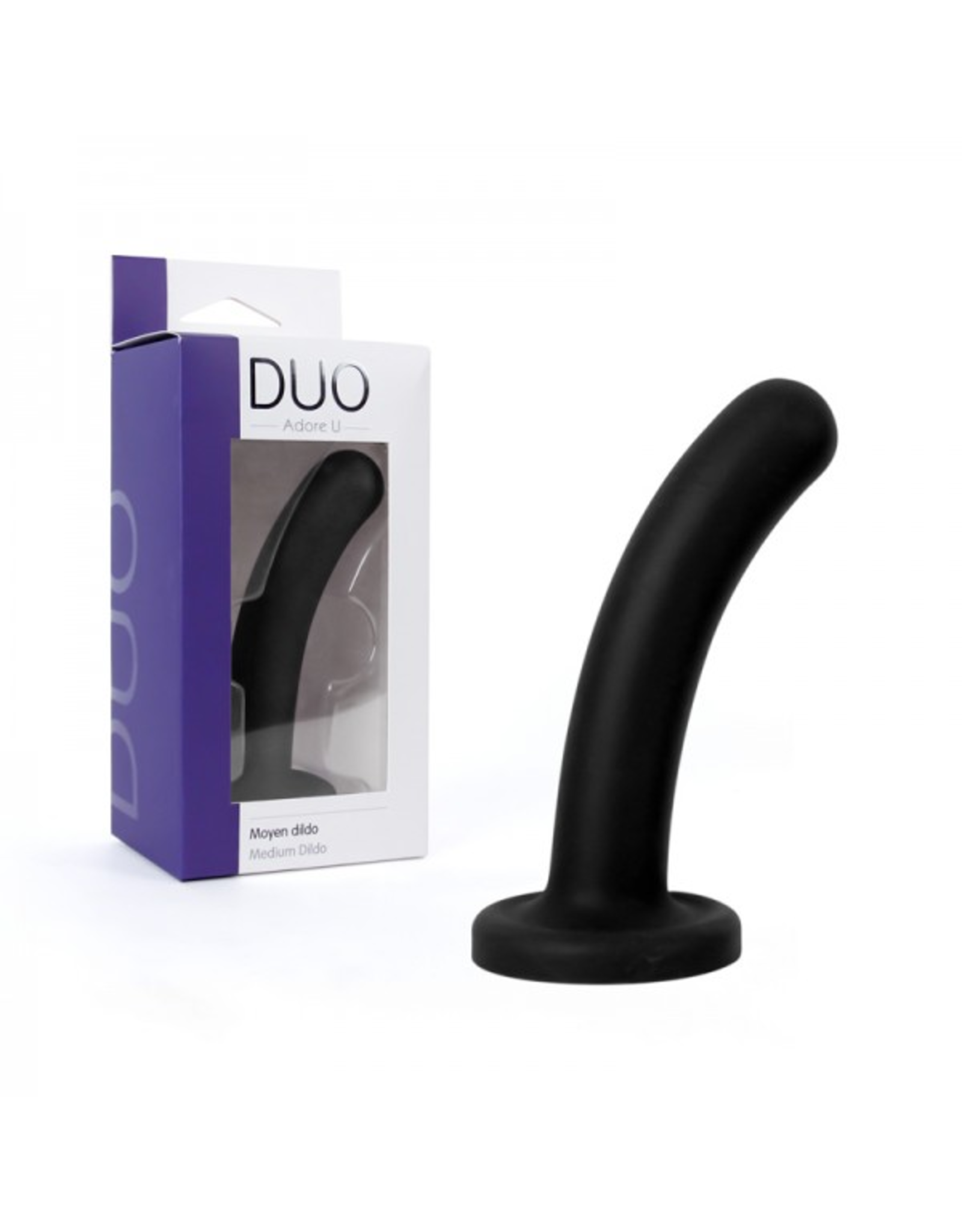 ADORE U - DUO - MEDIUM DILDO - BLACK