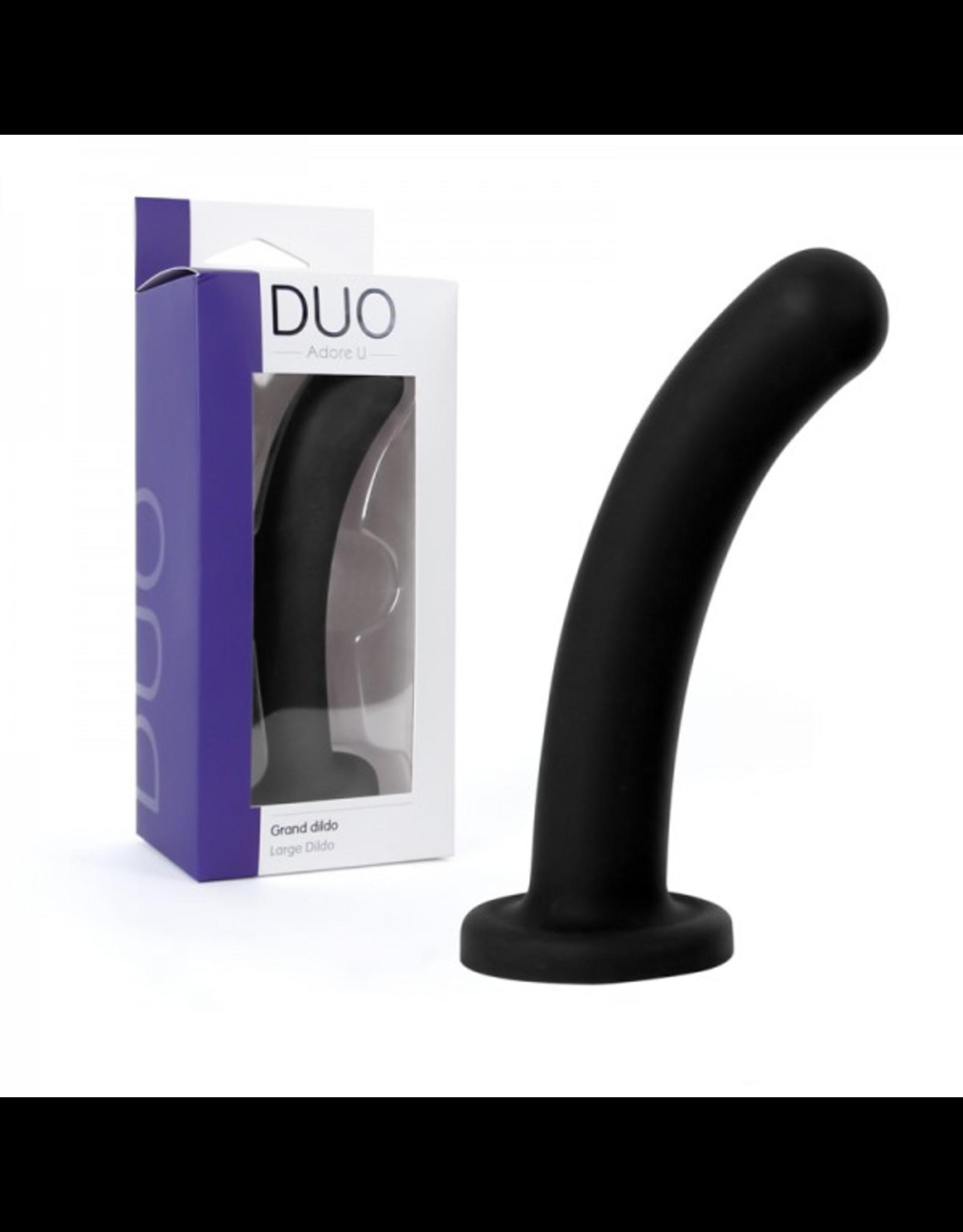 ADORE U - DUO - LARGE DILDO - BLACK