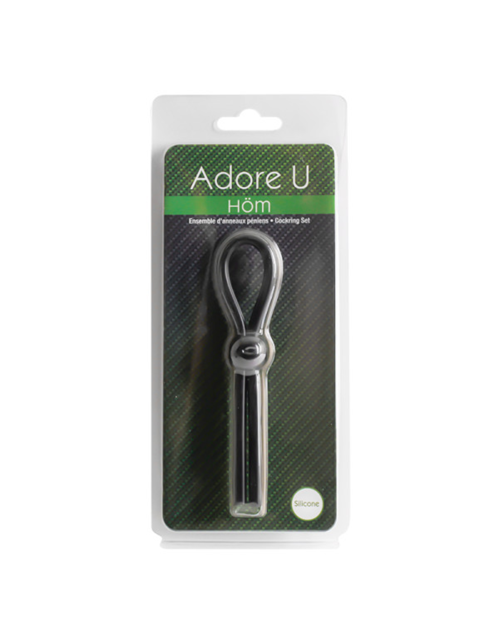 ADORE U HOM - LASSO C-RING - BLACK