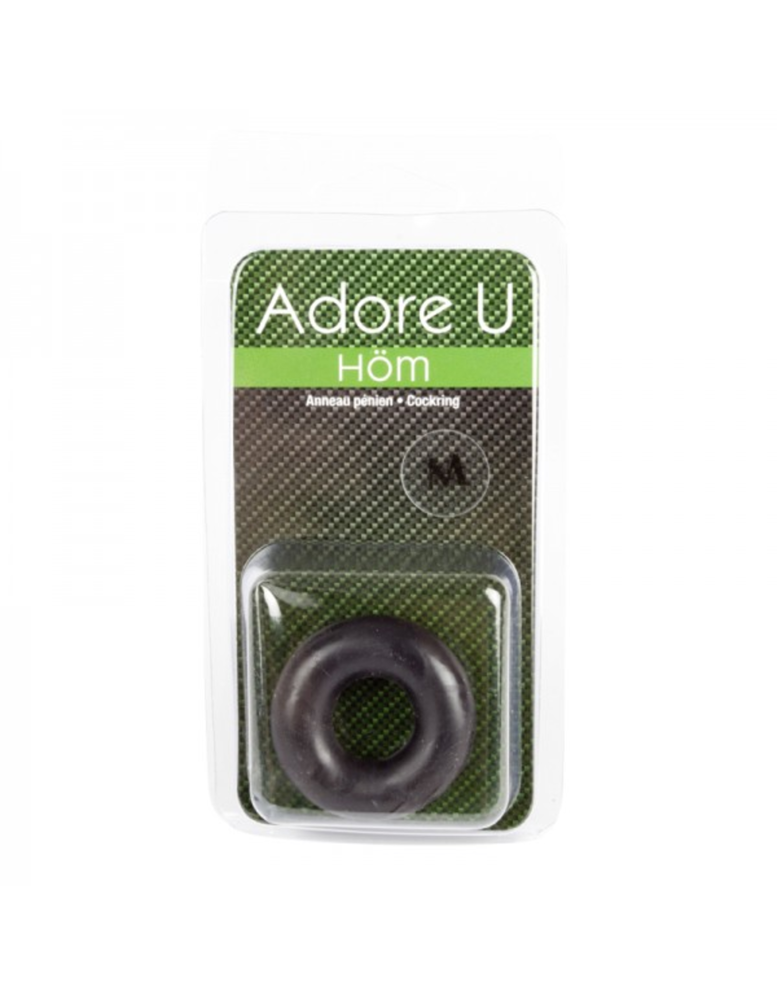 ADORE U HOM - MEDIUM C-RING - BLACK