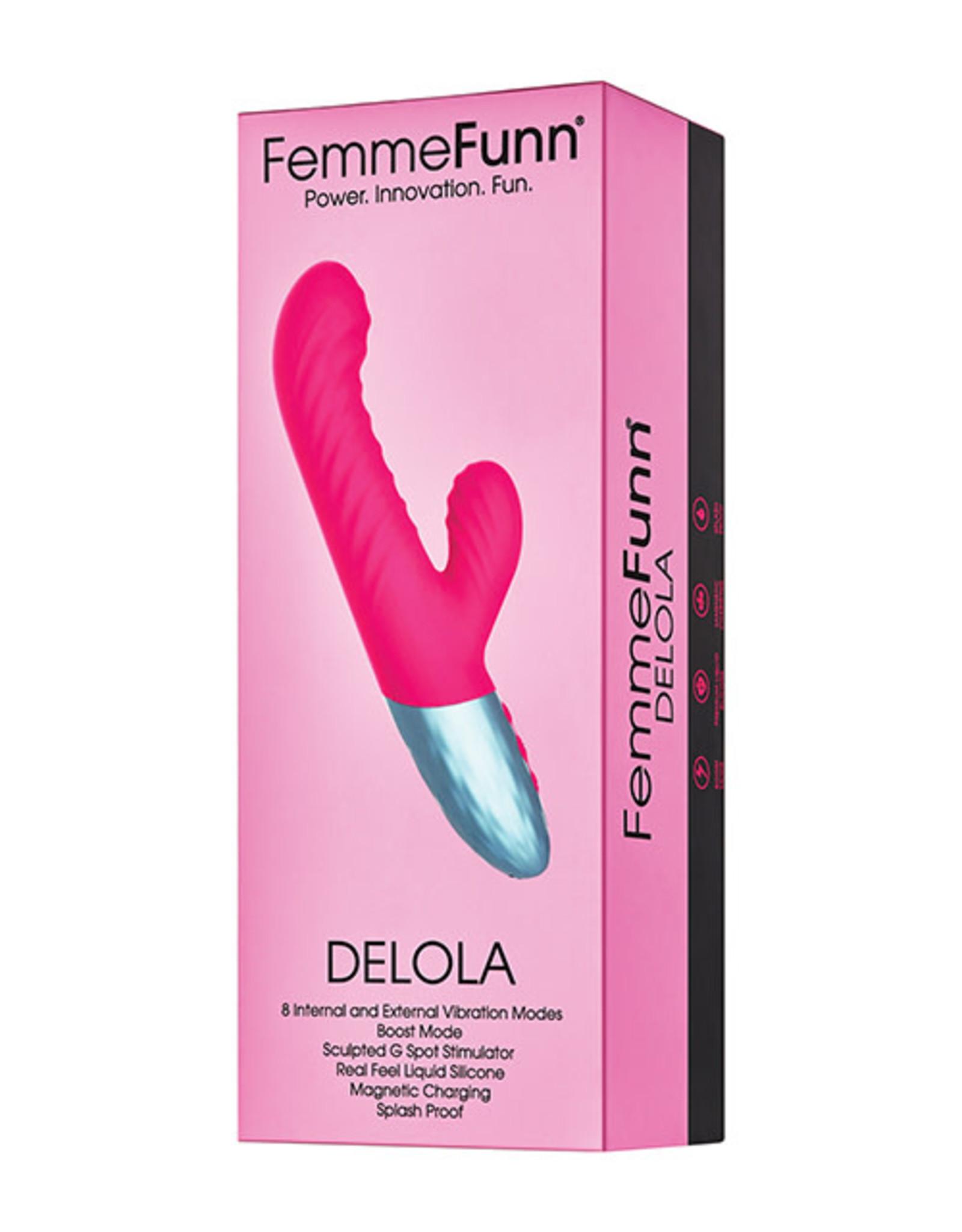 FEMMEFUNN FEMMEFUN - DELOLA - PINK - DOUBLE LAYERD LIQUID SILICONE RABBIT