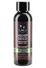 EARTHLY BODY EARTHLY BODIES - HEMP SEED MASSAGE OIL- GUAVALAVA 2oz