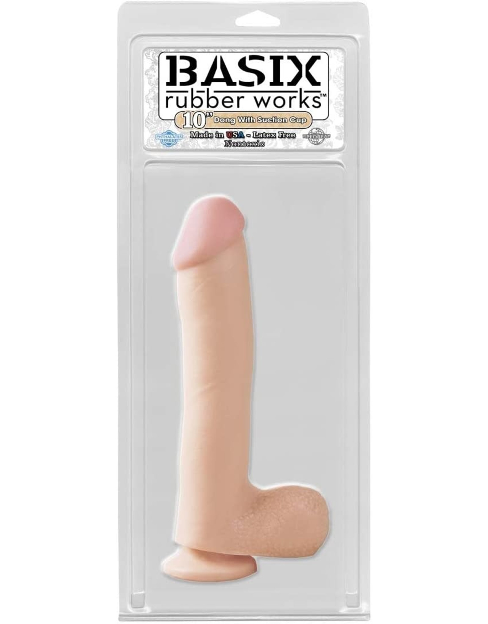 "PIPEDREAM BASIX - 10"" WITH BALLS - FLESH"