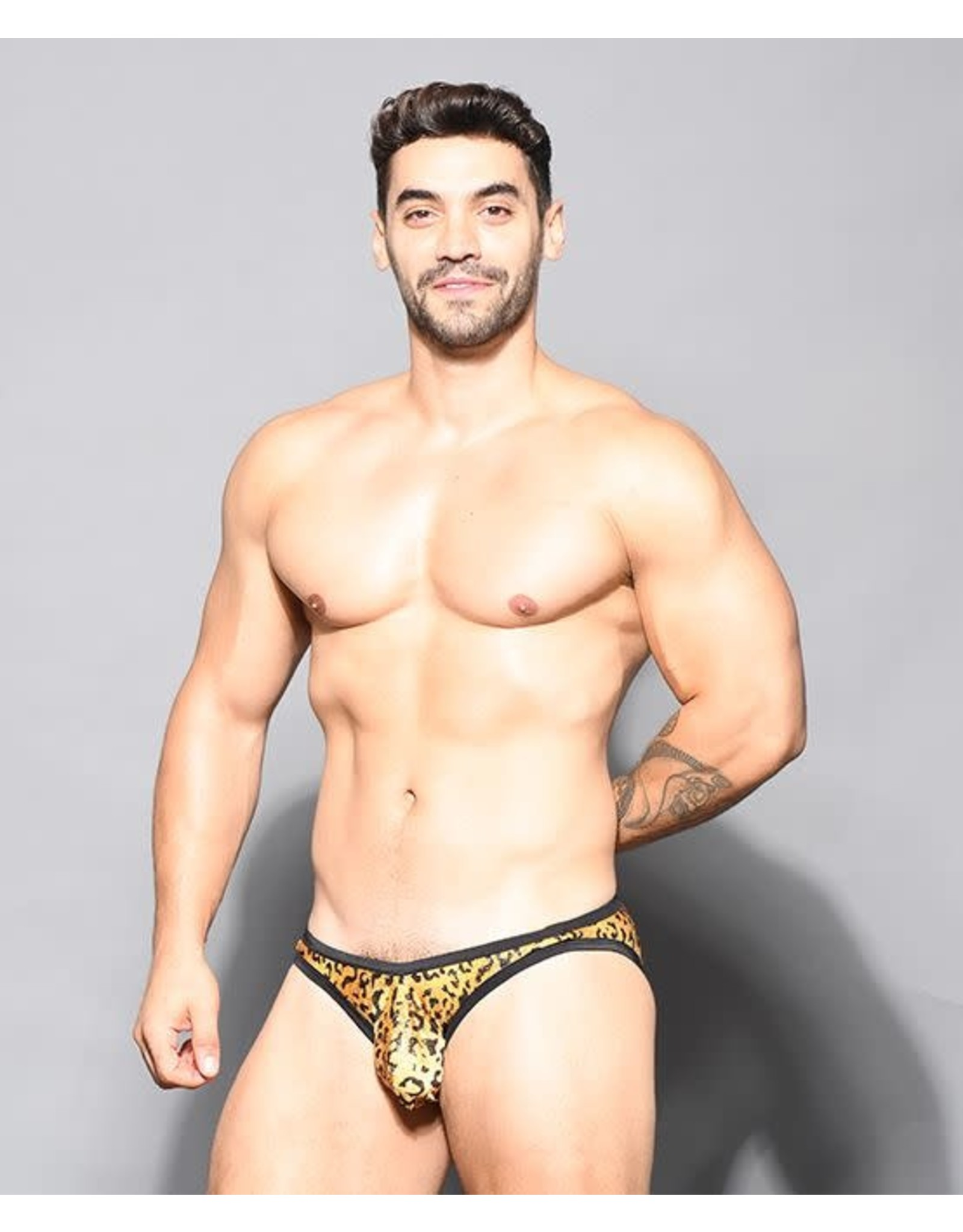 ANDREW CHRISTIAN ANDREW CHRISTIAN - GLAM LEOPARD BIKINI W/ ALMOST NAKED - LARGE