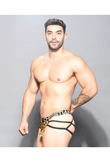 ANDREW CHRISTIAN ANDREW CHRISTIAN - GLAM LEOPARD WEB THONG W/ ALMOST NAKED SMALL