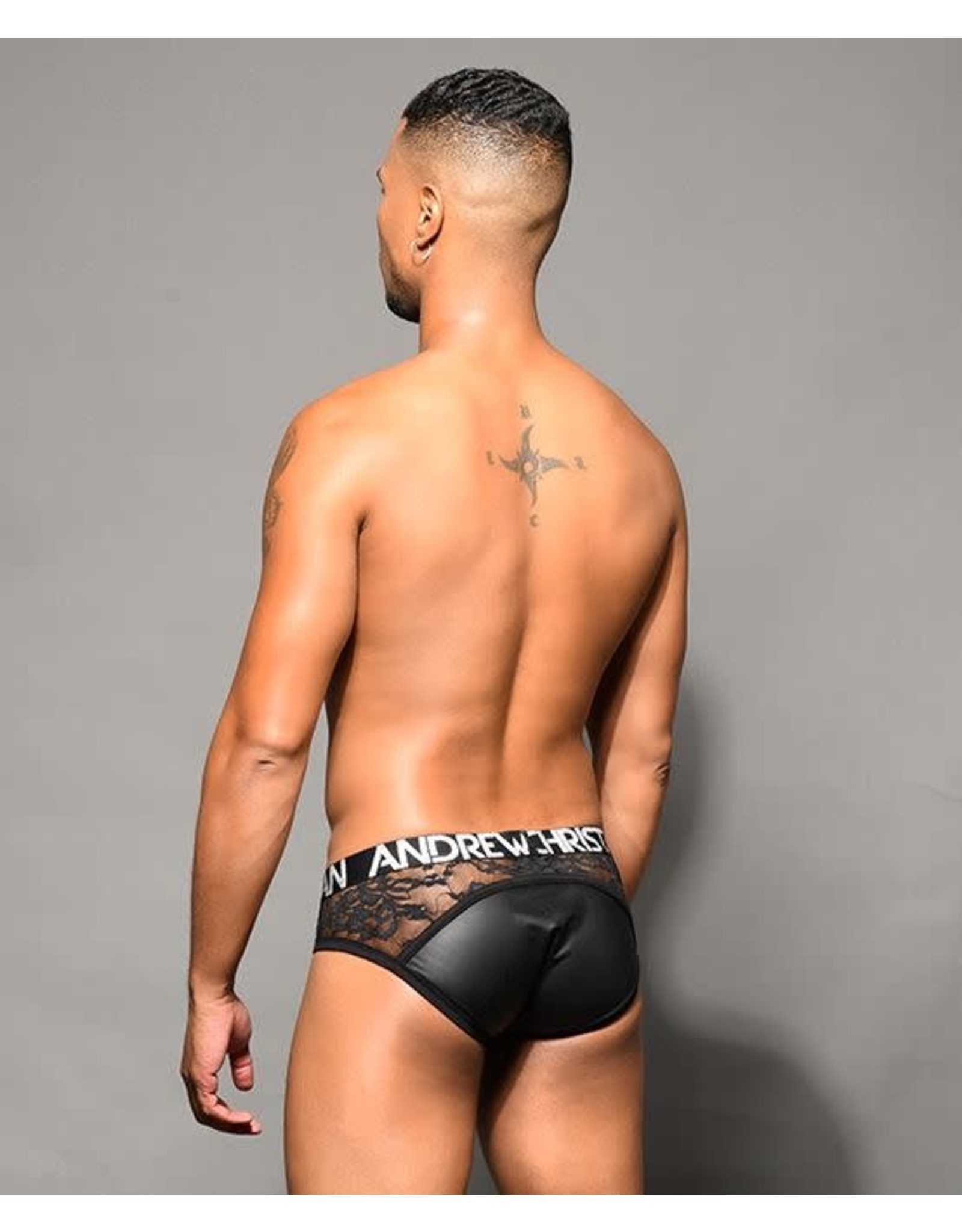 ANDREW CHRISTIAN ANDREW CHRISTIAN - NAUGHTY LACE BRIEF W/ ALMOST NAKED - SMALL
