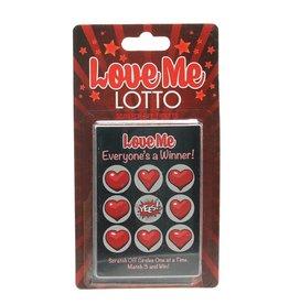 LOVE ME LOTTO SCRATCH CARD