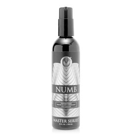 MASTER SERIES NUMB - DESENSITIZING WATER BASED LUBRICANT WITH LIDOCAINE 8oz