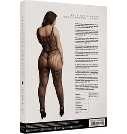 LE DESIR LACE AND FISHNET BODYSTOCKING - BLACK - OSX