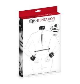 FETISHTENTATION FETISH TENTATION - HANDCUFFS AND SUBMISSIVE COLLAR