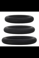 EVOLVED ADAM & EVE - SILICONE PENIS RING SET - BLACK