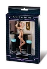 ANNE D'ALES - OPHELIE MESH JUMPSUIT - BLACK - SMALL/MEDIUM