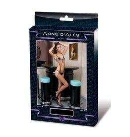ANNE D'ALES - OPHELIE MESH JUMPSUIT - BLACK - MEDIUM/LARGE