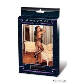 ANNE D'ALES - FRENCH KISS OPEN JUMPSUIT - BLACK -  MEDIUM/LARGE