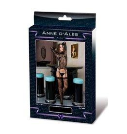 ANNE D'ALES - JOSEPHINE LACE JUMPSUIT - BLACK - SMALL/MEDIUM
