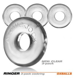 OXBALLS OXBALLS - RINGER COCKRING 3-PACK - CLEAR