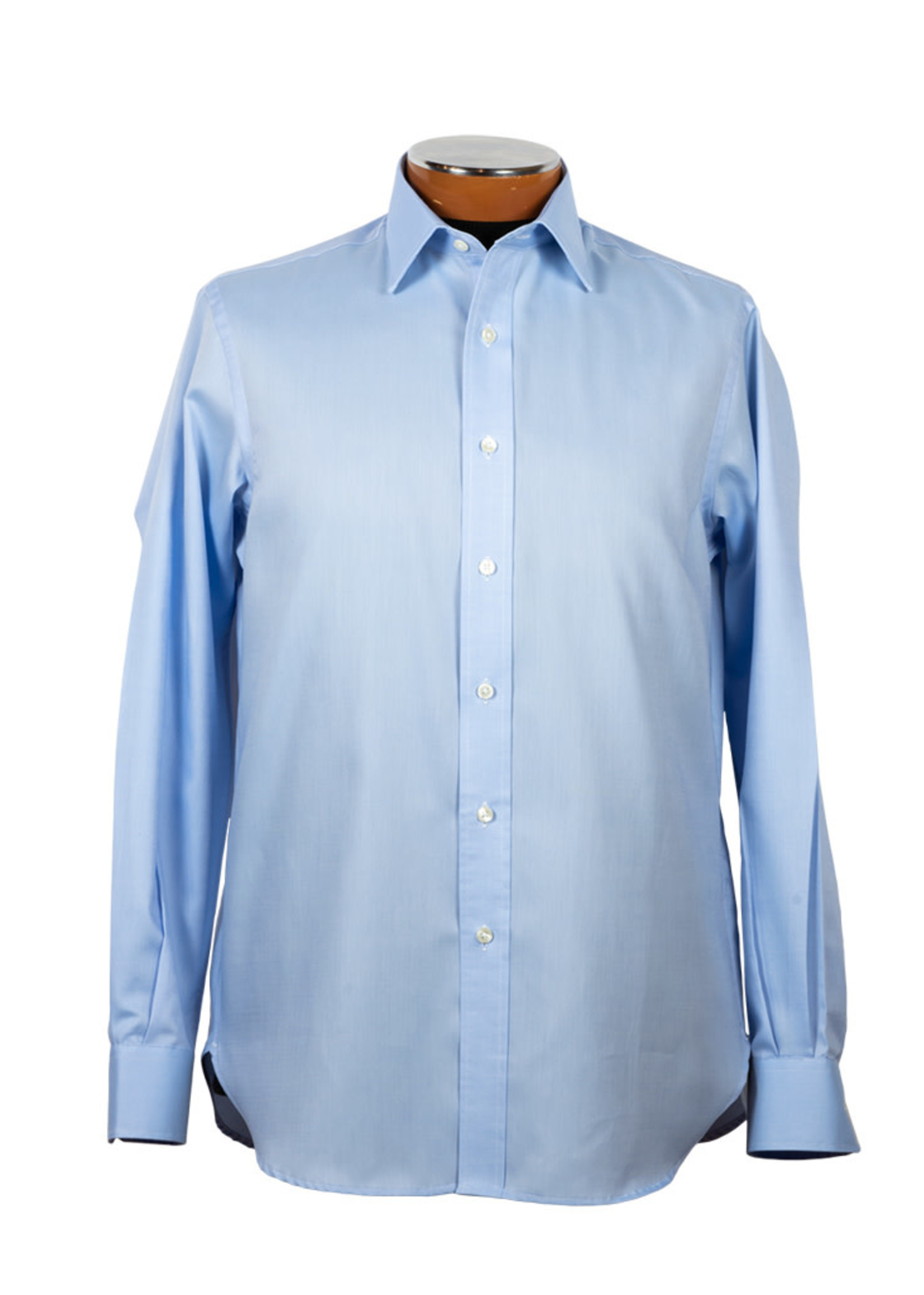 Drinkwater's Drinkwater's Blue Queen's Oxford Spread Collar Dress Shirt