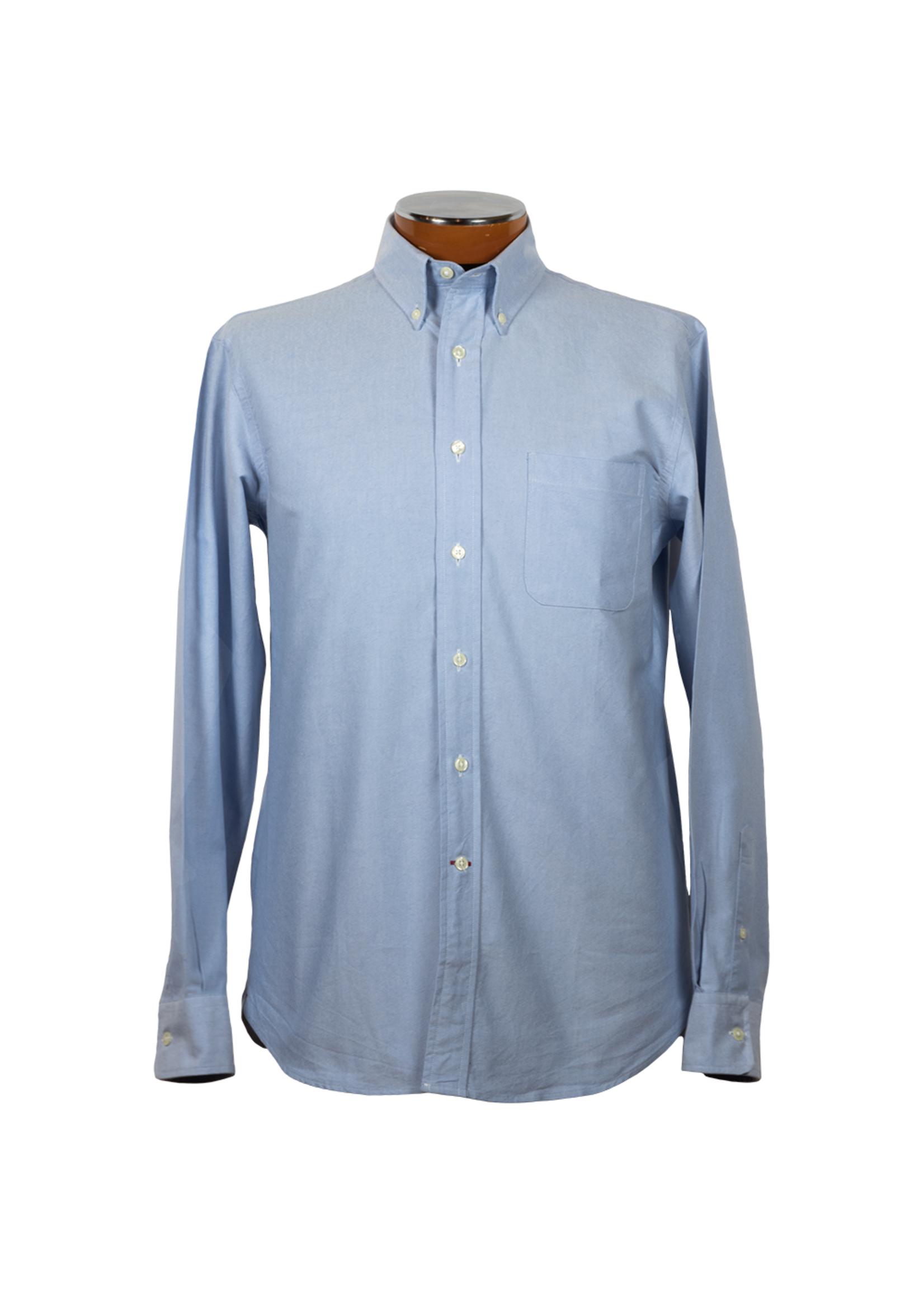 Drinkwater's Drinkwater's Blue Cambridge Oxford Buttondown Shirt