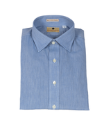 New England Shirt Co. Drinkwater's Light Blue Chambray Dress Shirt