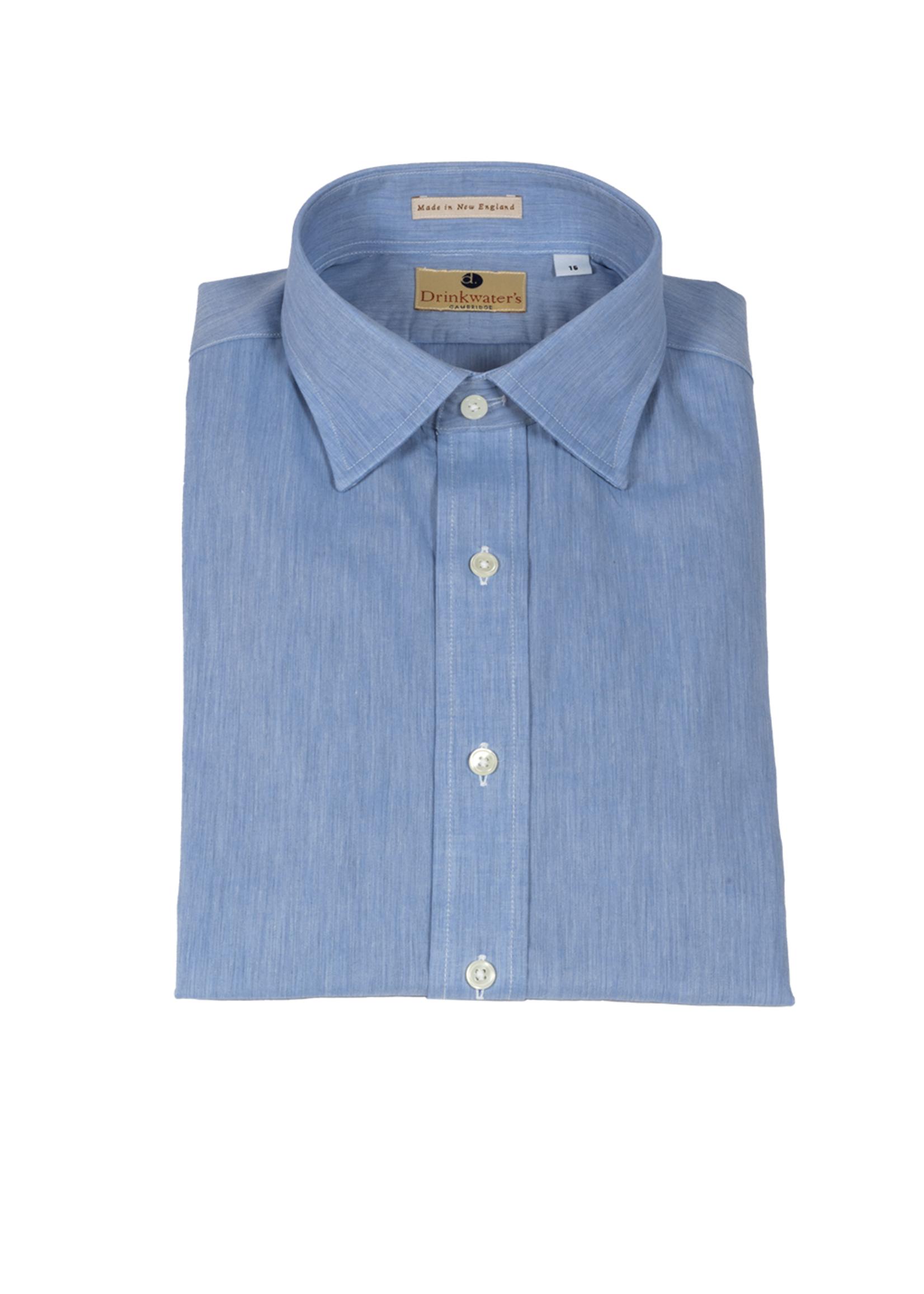 New England Shirt Co. Drinkwater's Light Blue Chambray Dress Shirt
