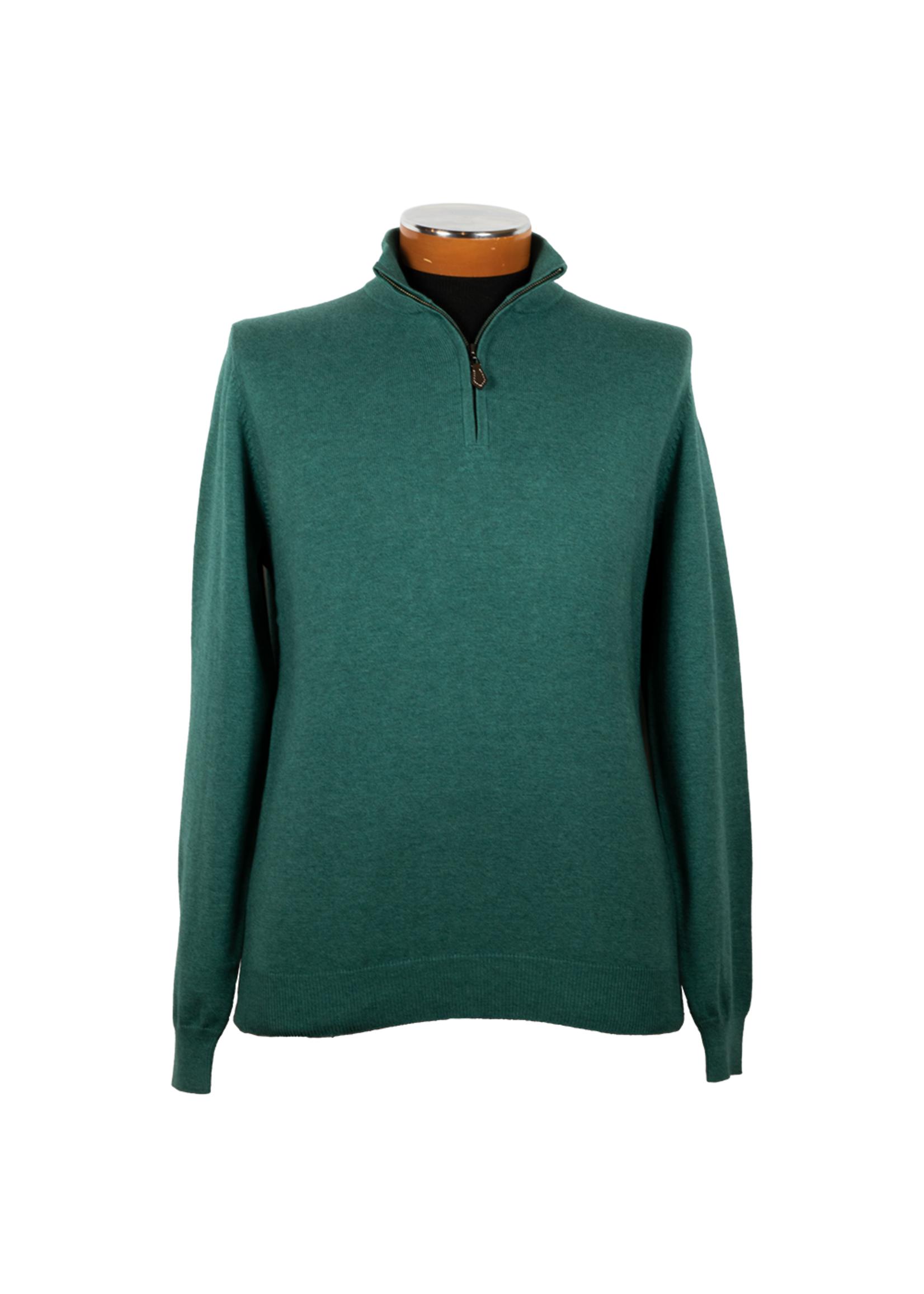 Alan Paine Selhurst Pima Cotton/Cashmere Half  Zip by Alan Paine