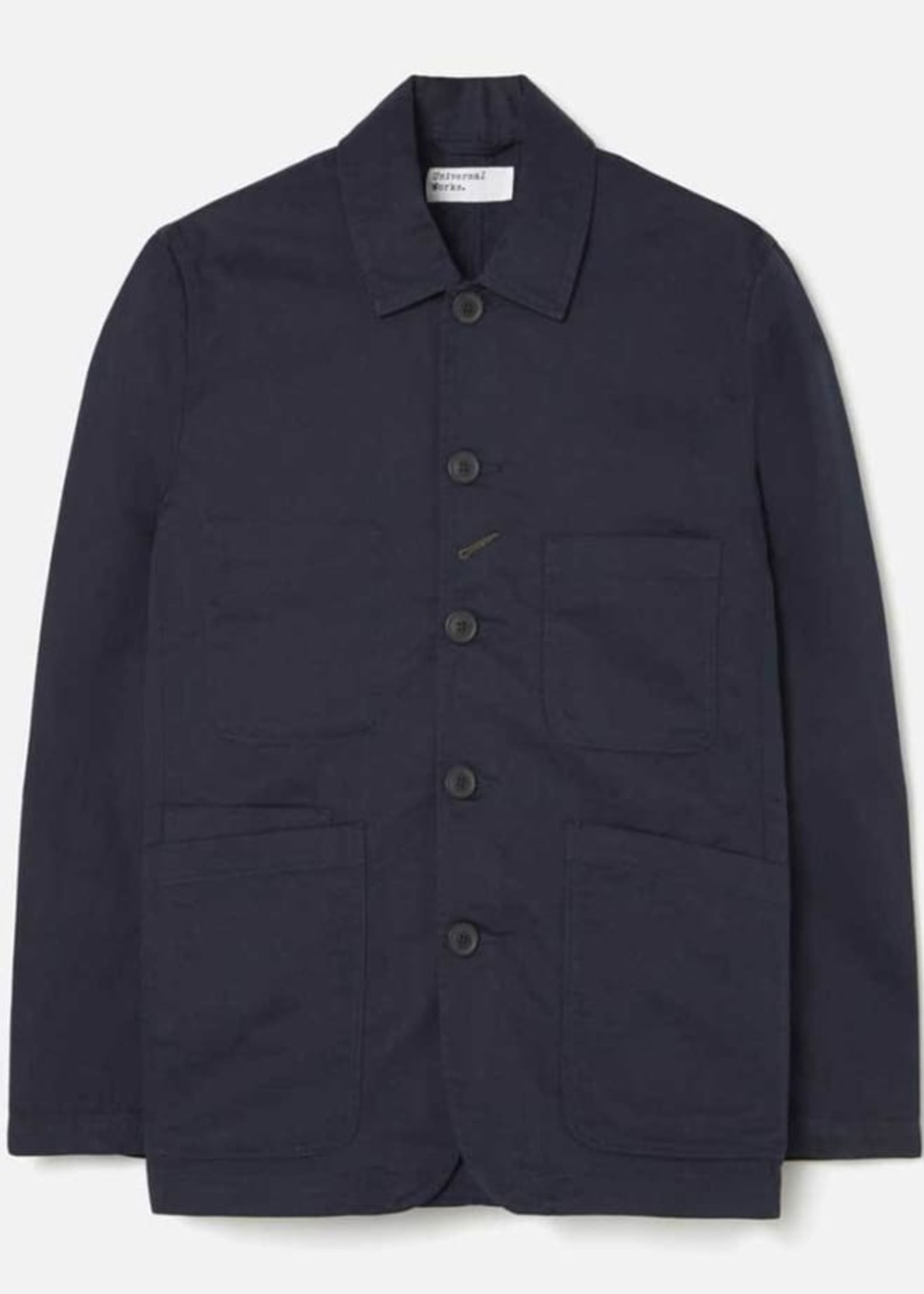 Universal Works Bakers Jacket Navy Cotton Twill by Universal Works