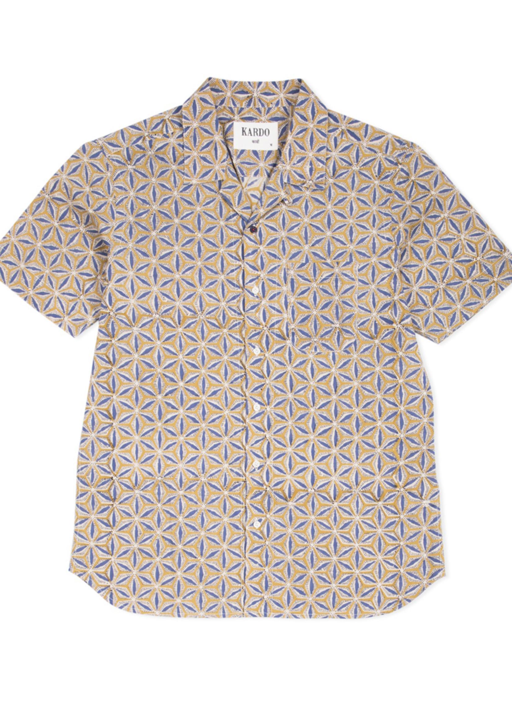 Kardo Lamar Camp Collar Short Sleeve Shirt by Kardo